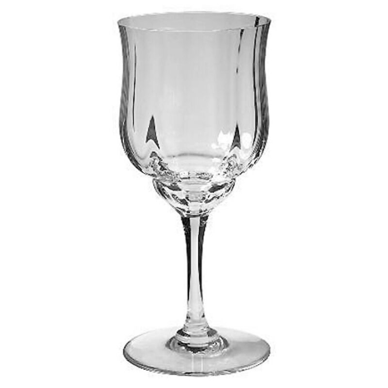 Set of 12 Baccarat Capri (Optic), Water or Wine Goblets- 6 5/8 Tall-NEVER USED