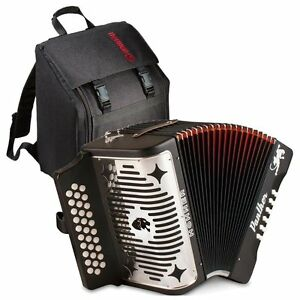 Hohner Panther GCF Accordion Acordeon Diatonic Button +Bag,Straps,Book,Worldship