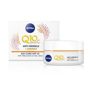 Nivea Q10 plus C Anti-Wrinkle + Energy Day Cream SPF 15 tired skin & fine lines