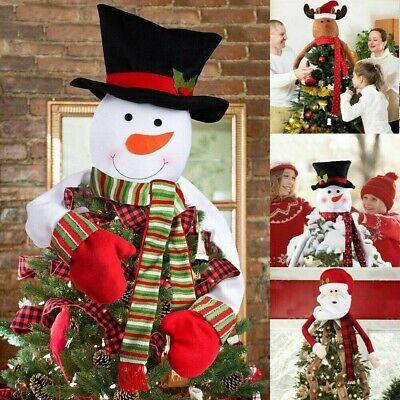 Christmas Tree Top Topper Cover Snowman Hat Xmas Tree Ornaments Xmas Home Decor ()
