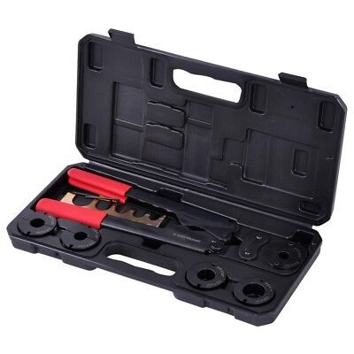 38 12 58 34 1 5in1 Pex Crimper Kit Copper Ring Crimping Plumbing Tool