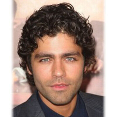 Short  Curly  Wigs For Men Toupee Short Pixie Wig Natural Black Hair Male Wig    - Wigs For Black Men Curly