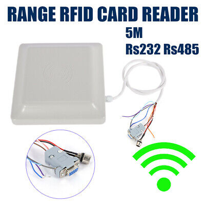 Wiegand26 5-8m Long Distance Uhf Rfid Card Reader For Parking Management System