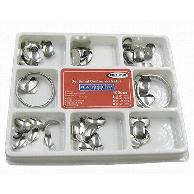 100novelty Dental Matrix Sectional Contoured Metal Matrices Full Kit No.1.398