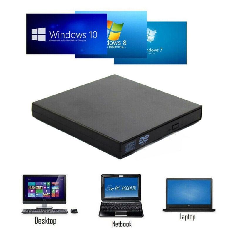 Slim USB 2.0 Externes  DVD Laufwerk  Brenner Writer CD-ROM/RW Für PC Laptop