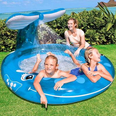INTEX: Kinder Planschbecken XXL Pool mit Dusche Wal 2,08x1,57 Meter Brause Neu