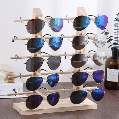 Wooden 3 Size Eyeglass Rack Sun Glasses Show Mall Display Stand Holder Organizer