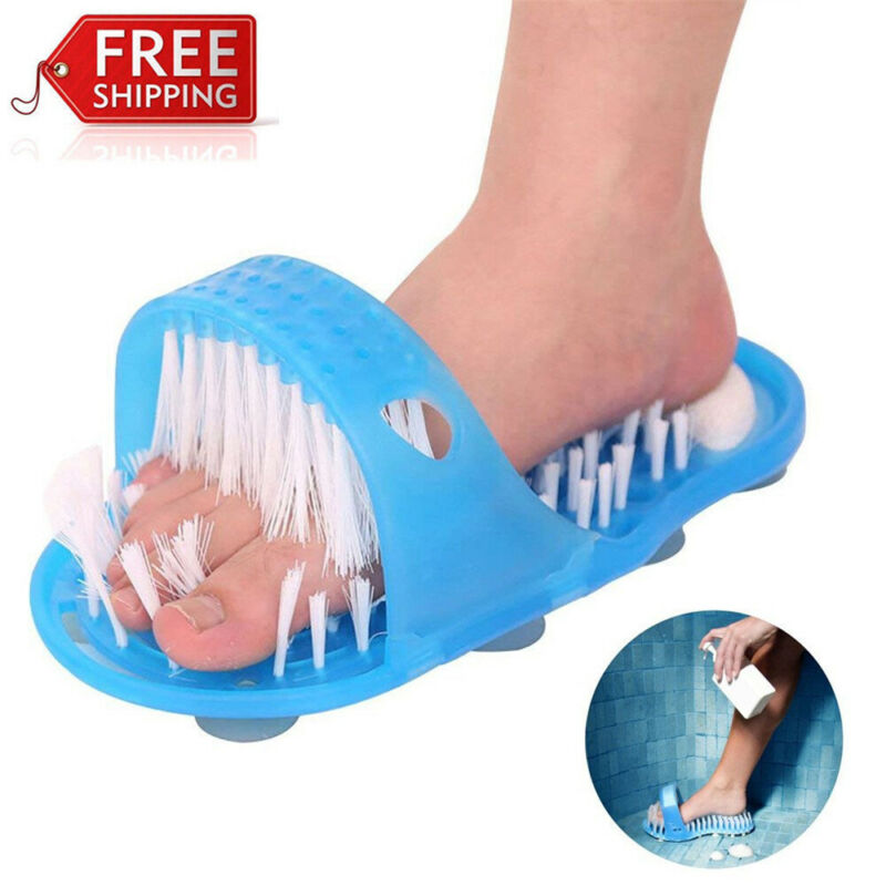 Foot Scrubber Brush Slipper Bath Shower Spa Easy Cleaner Scrub Feet Massage Wash