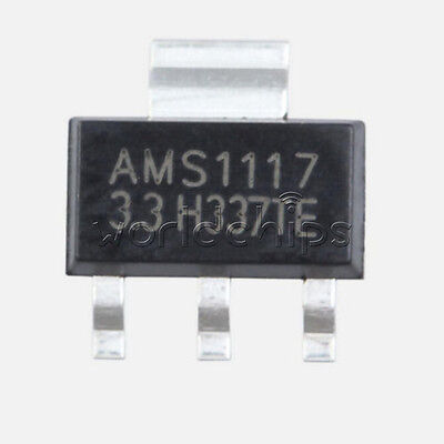 20pcs New Ams1117 Lm1117 5v 1a Sot-223 Voltage Regulator Good