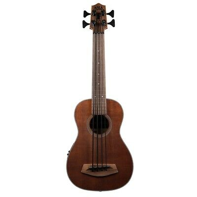 Kala FRETLESS Solid Mahogany Acoustic-Electric U-Bass Ukulele Bass w/ Gig Bag