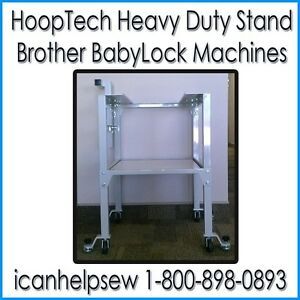 hoop tech heavy duty embroidery machine stand brother pr