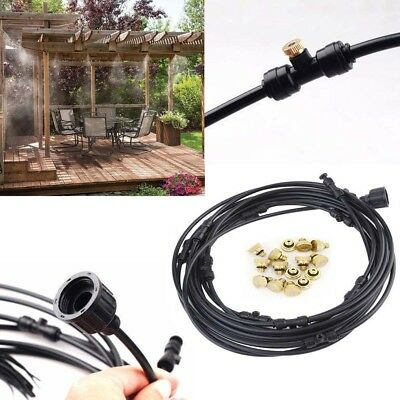 19.6FT Misting Cooling System Fan Cooler Patio Garden Water Mister Mist Nozzles