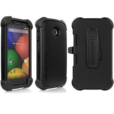 Ballistic Tough Jacket Maxx Case Cover For Motorola Moto E XT1021 XT1022 + Clip