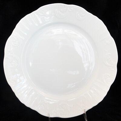 "MANUELINE WHITE Vista Alegre Dinner Plate 10.25"" NEW NEVER USED made Portugal"