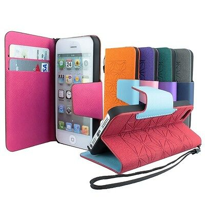 For Apple iPhone SE 5S 5 Flip Card Wallet PU Leather Stand Cover Case Pouch  (Ip5 Wallet)