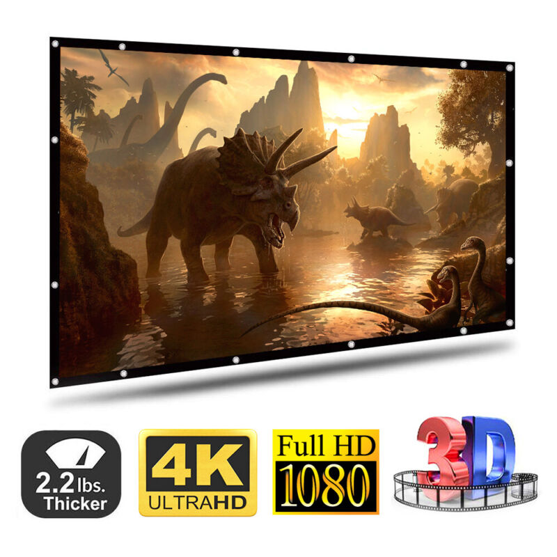 100/120 inch 16:9 HD 1080P Portable Projector Screen Home Ou