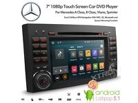 ANDROID 5.1 DVD CD USB AUX Player BT Stereo NAVI GPS RADIO MERCEDES CLASS A B VITO VIANO SPRINTER
