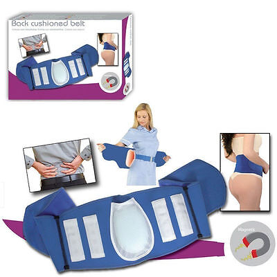 Magnetic Blue Lumbar Back Support Belt 16 Magnets Cushion Brace Lower Back Pain
