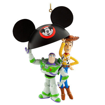 Disney Parks Buzz and Woody Ear Hat Christmas Ornament - Toy - Disney Woody Hat