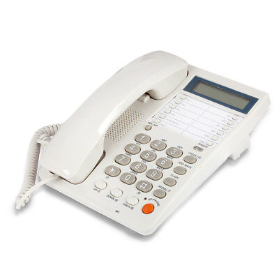 Blue Donuts BD-099WHT-White Caller ID Phone for wall or desk with Speaker and Me
