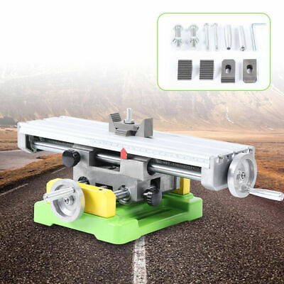 2 Axis Milling Machine Compound Work Table Cross Sliding Bench Drill Vise