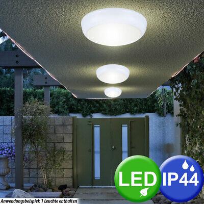 LED Exterior Luz Lámpara Jardín Cubrir Iluminación Veranda Terraza Metal Redondo