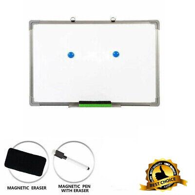 60x40 Magnetic Whiteboard Office Dry Wipe Drawing Writing Erase Board School
