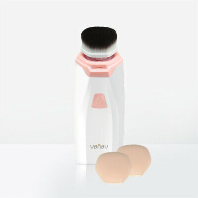 Vanav Cover Fit Dual Makeup Brush & Puff Perfect Cover Glossy Adherent Makeup