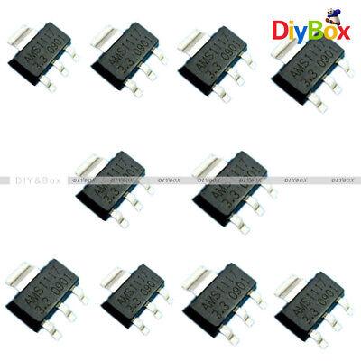 50pcs Ams1117-3.3 Lm1117 3.3v 1a Sot-223 Voltage Regulator