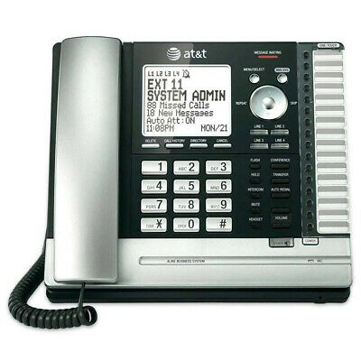 New Att Ms2015 4 Line Business System Desk Phone Blacksilver