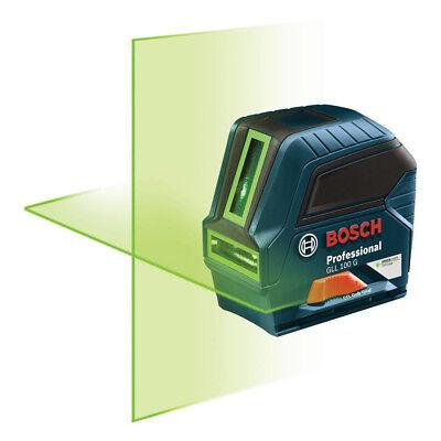 Bosch Self-Leveling Cross Line Laser (Green) GLL100GX-RT Recon