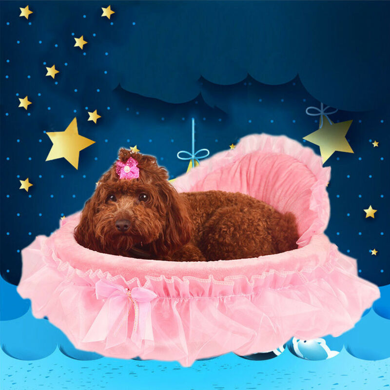 Lace Princess Dog Bed Soft Sofa For Small Dogs Puppy cat Hou