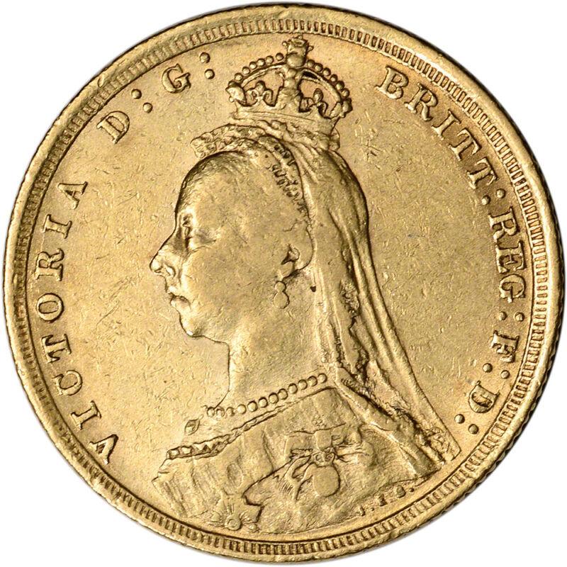 Australia Gold Sydney S Sovereign .2354 oz Victoria Jubilee XF AU Random Date