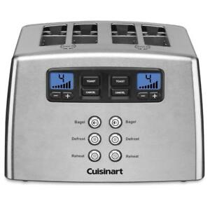 NEW Cuisinart CPT-440C 4-Slice Touch To Toast Leverless Toaster Silver Condition: New