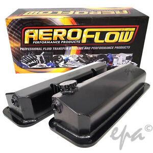 FORD CLEVELAND ALLOY ROCKER COVERS 302 351 DRAG CAR HOT ROD FALCON AF77-5001BLK
