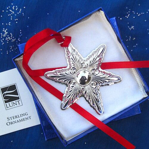 RARE • NEW • LUNT 2000 ANNUAL STAR Sterling Silver Christmas Ornament / Pendant