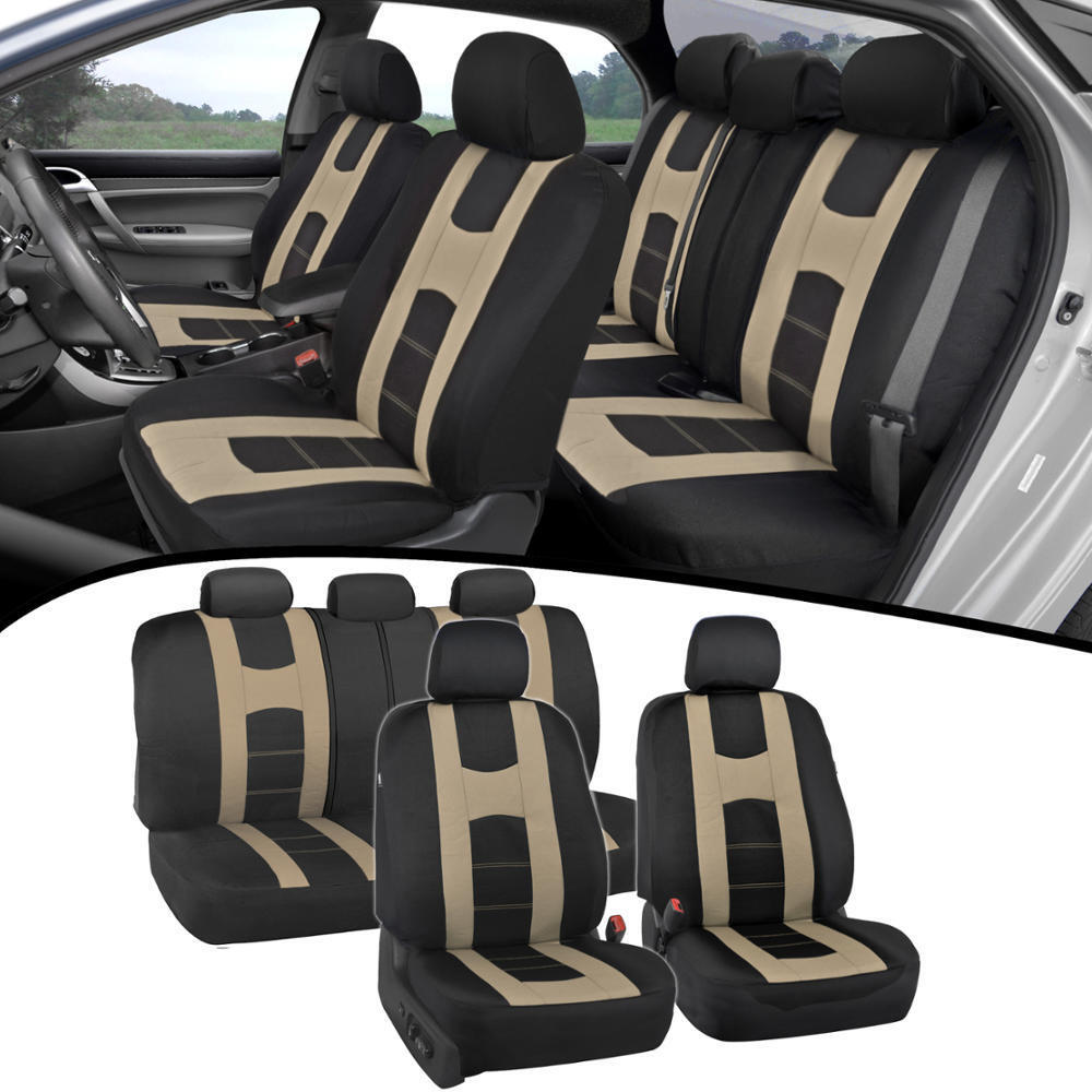 Car Seat Covers For Auto Beige New Design Poly Pro Covers