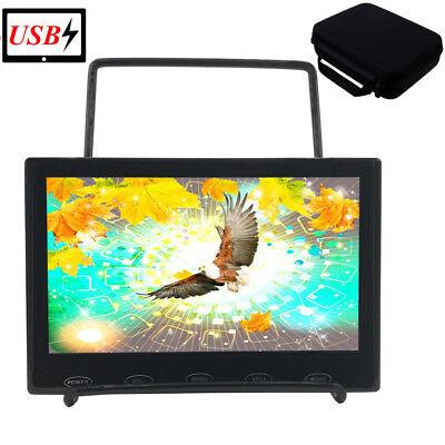 "7"" LCD CCTV Monitor PC Display Screen USB Powered AV/VGA/BNC/HDMI + Storage Bag"