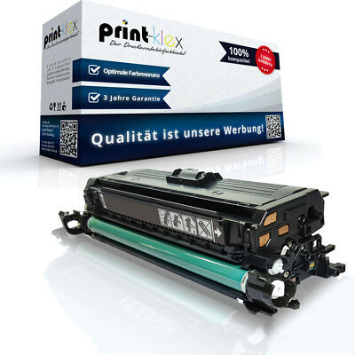 Toner für HP Color LaserJet CM3530 MFP CM3530MFP CP3520 CP3525 DN CE250a BLACK (Hp Color Laserjet Black Toner)