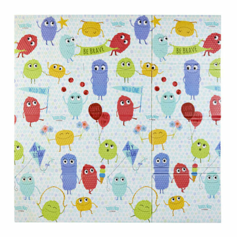 Toddleroo by North States 71 Inch Superyard Folding Toddleroo Friends Play Mat