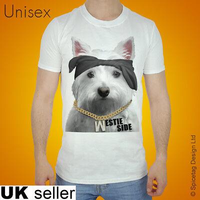 Westie Side T-shirt West Side Scotty Dog Tshirt Puppy Top Rapper Dogs Westies T