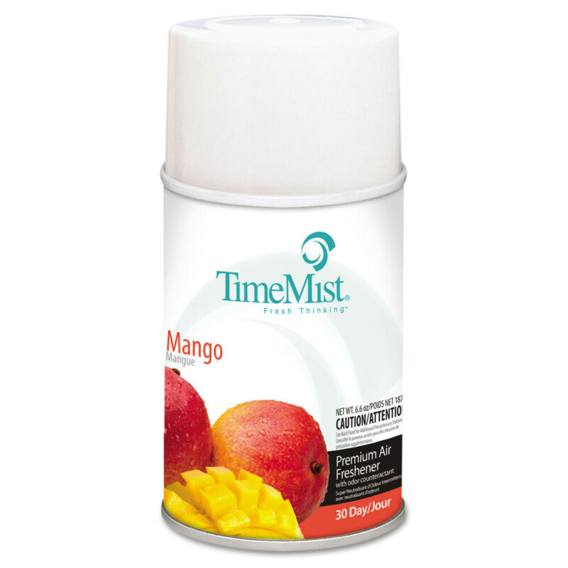 TimeMist Metered Fragrance Dispenser Mango 6.6oz Aerosol 12/ctn 1042810 NEW