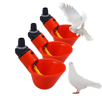 20 Pack Bird Poultry Water Drinking Cups Chicken Hen Animal Automatic Drinker