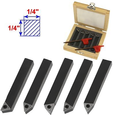 5 14 Mini Lathe Indexable Carbide Insert Tool Bit Set