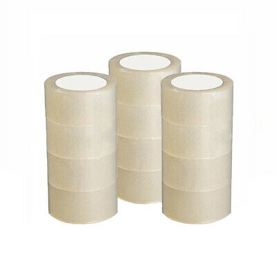 12 Roll Clear 2.7 Mil Carton Sealing Shipping Box Packing Tape 1.8 In X 60 Yards