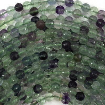 Faceted Rainbow Fluorite Round Beads Gemstone 15.5 Strand 4mm 6mm 8mm 10mm 12mm