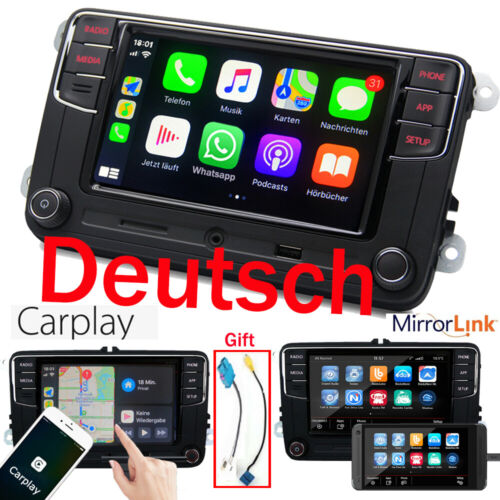 Deutsch Autoradio RCD330 CarPlay RVC USB SD BT AUX Für VW GOLF 5 6 Passat  Polo