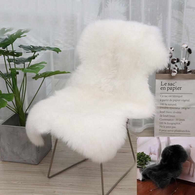 Kunstpelz Schaffell Teppich Faux Fleece Stuhlbezug Sitzpolster Soft Home Decor