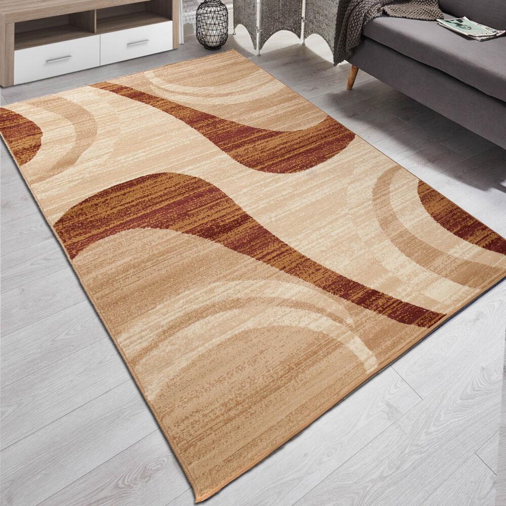 Teppich Wohnzimmer Modern Muster In Beige | 180x250 | 200x300 | 9 Größen TOP