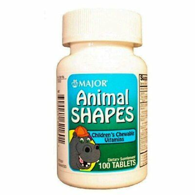 Animal Shapes Chewable Vitamins 100 CT (PACK OF 5)